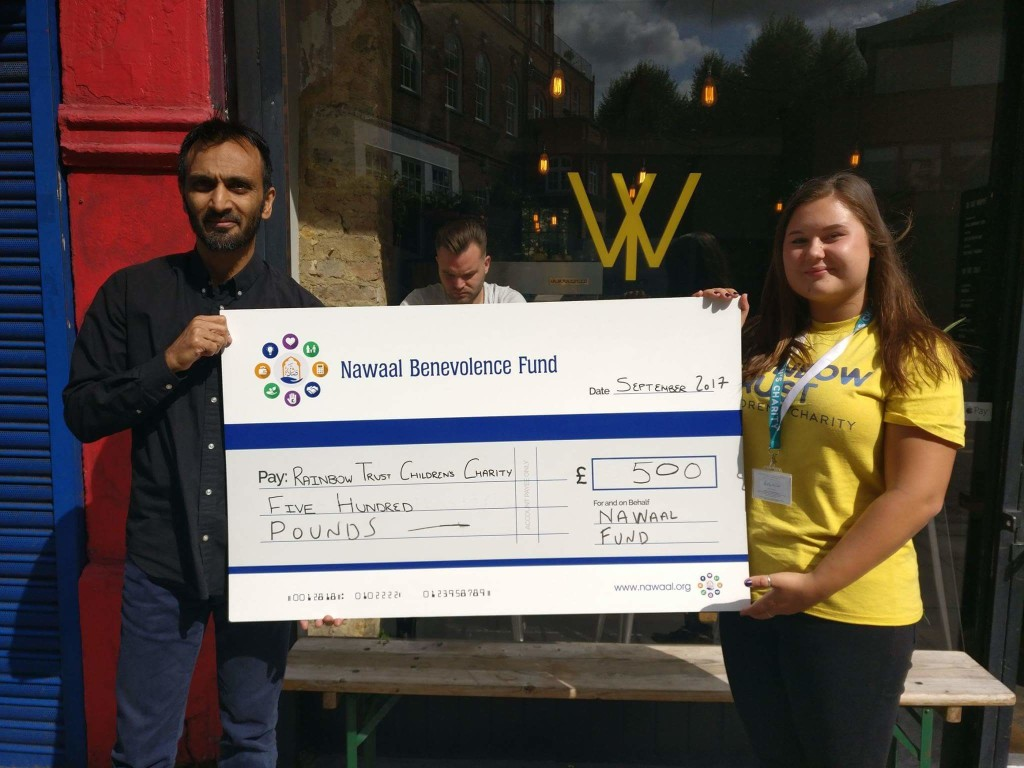 Supporting Rainbow Trust for Children in September 2017 - a local Hackney charity caring for families who have a child with a life threatening or terminal illness. The annual Solly Cup 2017 community sports competition together with the wonderful Chatsworth Road (E5) community raised over £1000 for local charitable causes