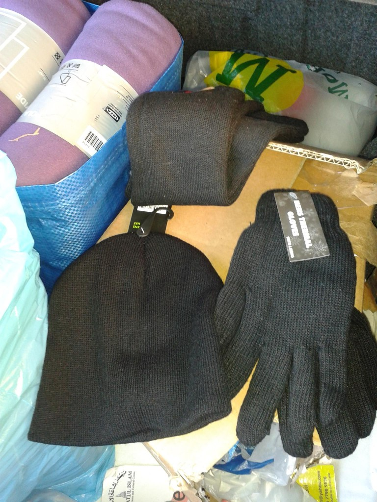 Woolly hats, gloves and warm socks for local homeless funds donated by locals