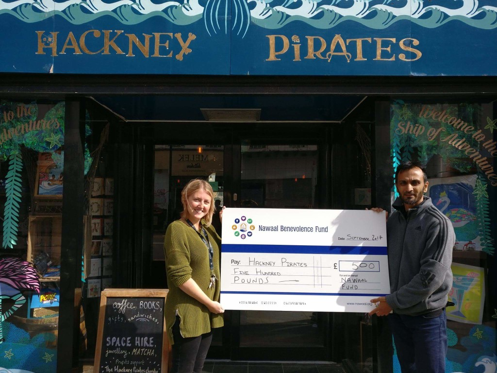 Supporting Hackney Pirates - a charity working to develop the literacy, confidence and perseverance of young people in Hackney, so that they achieve both in school and in the world beyond. The annual Solly Cup 2017 community sports competition together with the wonderful Chatsworth Road (E5) community raised over £1000 for local charitable causes