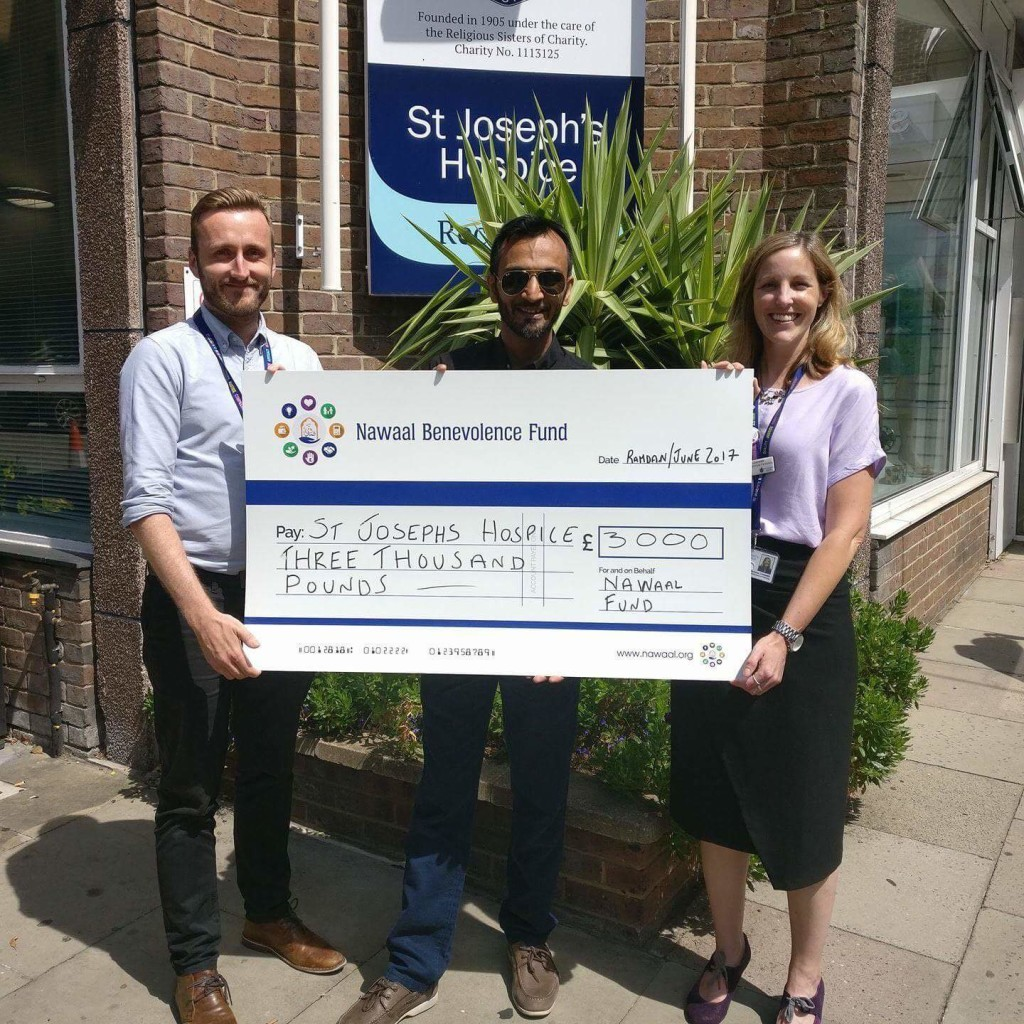 During the holy month of Ramadan 2017 (June 2017) the Muslim community raised over £3000 for St Josephs Hospice