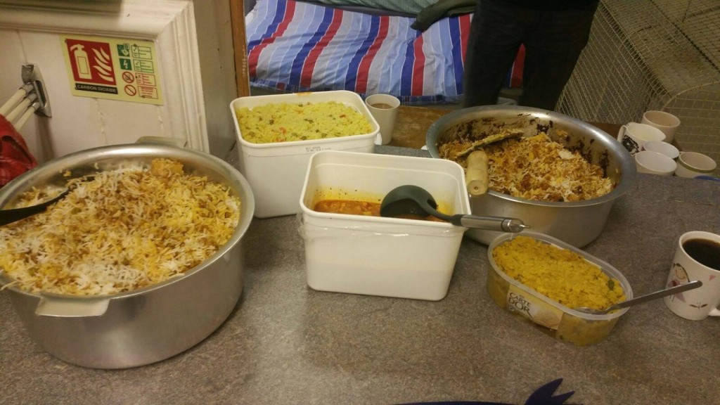 Volunteers from our Newham branch helped and provided food at Newham's Newway homeless night shelter in March 2017