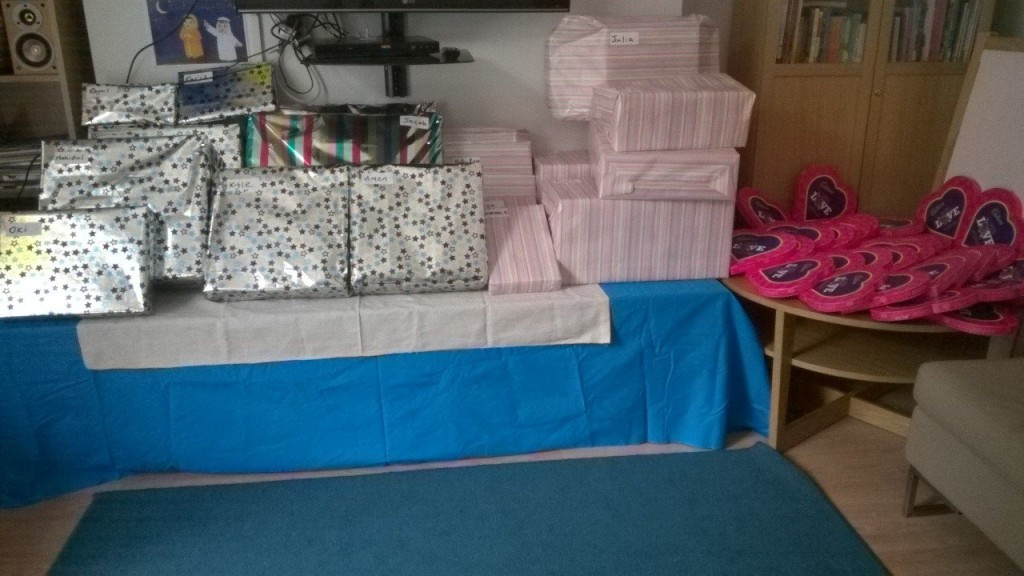 Gifts brought for every child living at all DV shelters across Hackney (approx 50 children) in August 2015